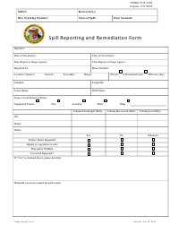 """""""Spill Reporting and Remediation Form"""""""
