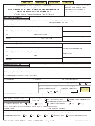Form FDA 356H Download Fillable PDF, Application to Market a New or
