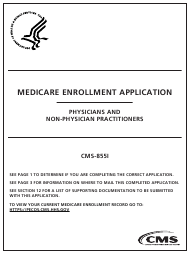 "Form CMS-855I ""Medicare Enrollment Application - Physicians and Non-physician Practitioners"""
