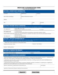"""Medicare Authorization Form"""