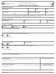 "Form NIH2992 ""Administrative Leave Request"""