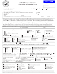 SBA Form 641 Counseling Information Form