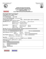 "FWS Form 3-2495 ""Striped Bass Recapture Report"""