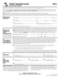 "Form TSP-1 ""Election Form"""