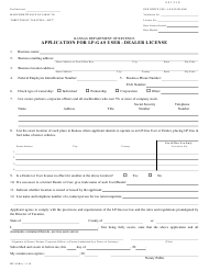 "Form MF-40 ""Application for Lp-Gas User - Dealer License"" - Kansas"