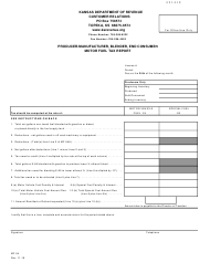 "Form MF-54 ""Producer/Manufacturer, Blender, End Consumer Motor Fuel Tax Report"" - Kansas"