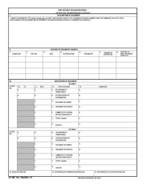AF IMT Form 143  Printable Pdf