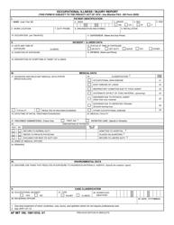 AF IMT Form 190 Occupational Illness/Injury Report