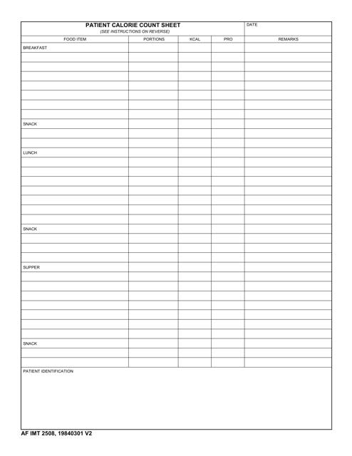 AF IMT Form 2508 Printable Pdf