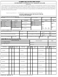 AF IMT Form 361 Chamber Reactor/Treatment Report