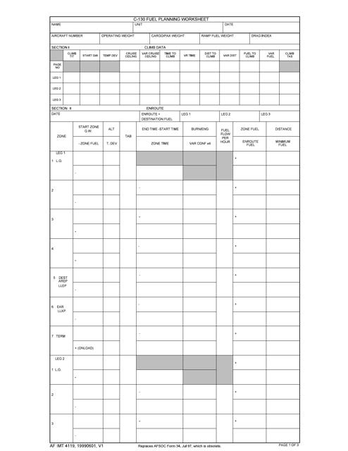 AF IMT Form 4119 Printable Pdf
