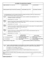 """AF IMT Form 970 """"Statement on Disposition of Remains"""""""