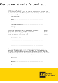 Car Buyer's/Seller's Contract Template - Aa