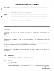 Employment Termination Agreement | Employment Termination Agreement Template Download Printable Pdf