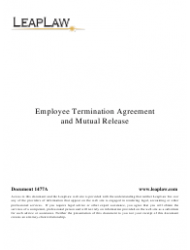 Employee Termination Agreement And Mutual Release Template
