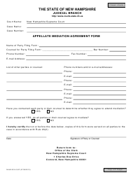 Form 2614-SUP Appellate Mediation Agreement Form - New Hampshire