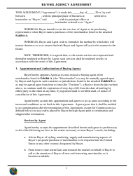 Buying Agency Agreement Template - Wcb - New York