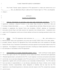 Funds Transfer Agency Agreement Template