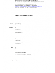 Sample Agreement Under Swiss Law - Zürich