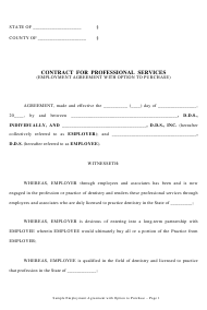 """Contract Template for Professional Services"""