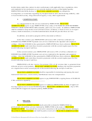 """""""Physician Employment Agreement Template"""", Page 2"""