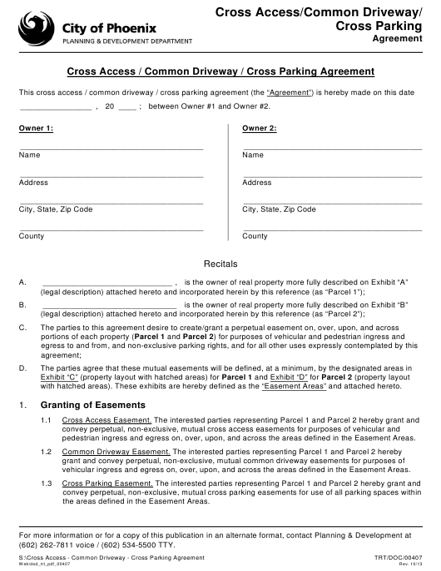 Form TRT/DOC/00407 Download Fillable PDF, Cross Access