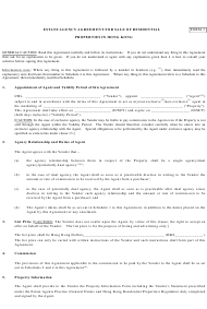 Estate Agency Agreement Template for Sale Residential Properties in Hong Kong - Hong Kong China
