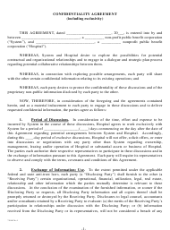 """Confidentiality Agreement Template"""
