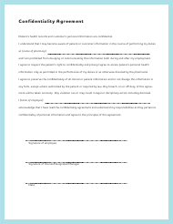 """Patient Confidentiality Agreement Template"""