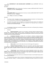 """Confidentiality and Non-disclosure Agreement Template"""