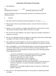 """Declaration of Domestic Partnership Template"""