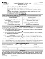 "Form DL8 ""Commercial Driver's License (Cdl) Self-certification"" - Virginia"