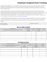 Employee Assigned Asset Tracking Template