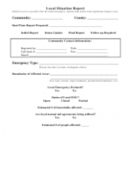 Local Situation Report Form