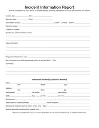 Form 680-016 Incident Information Report Form