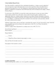 Crime Incident Report Form - Swosu