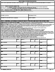 "AF Form 68 ""Munitions Authorization Record"""