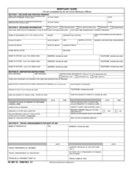"""AF IMT Form 57 """"Mortuary Guide"""""""