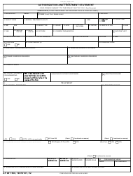 AF IMT Form 560 Authorization and Treatment Statement