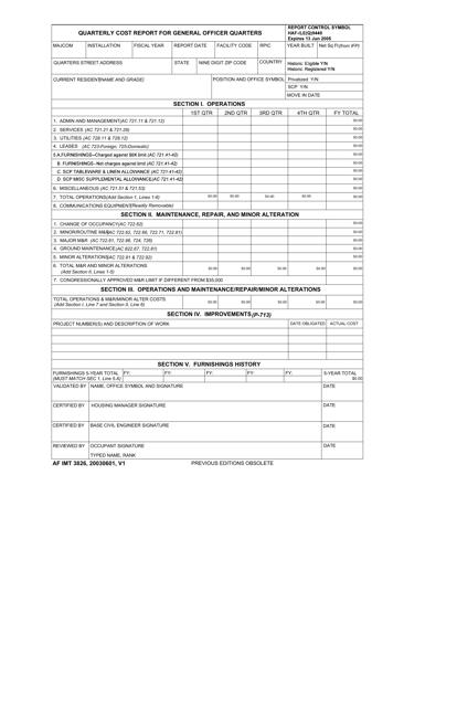 AF IMT Form 3826 Fillable Pdf
