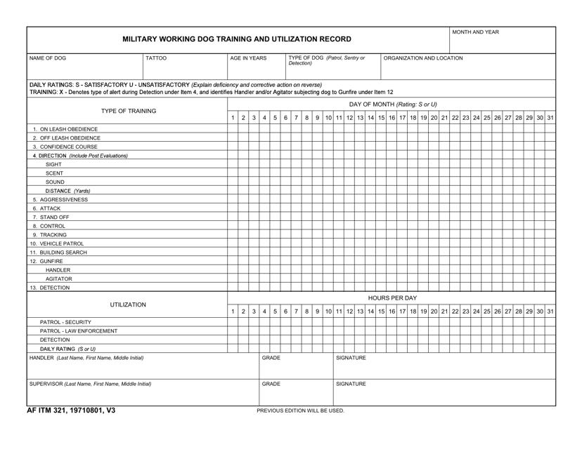 AF IMT Form 321  Printable Pdf