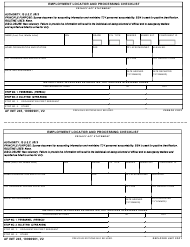 AF IMT Form 245 Employment Locator and Processing Checklist
