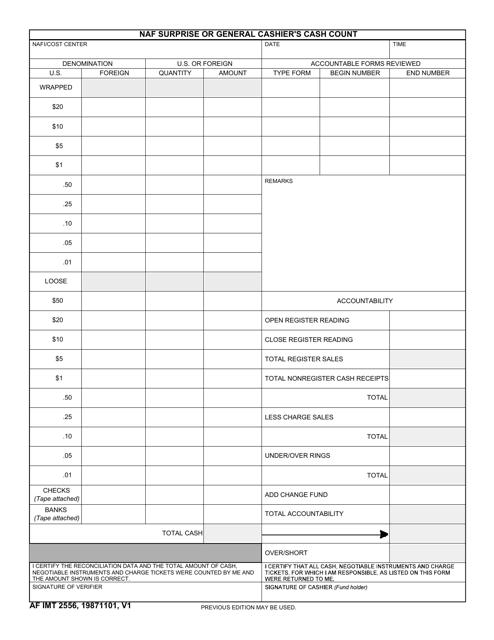 AF IMT Form 2556 Fillable Pdf