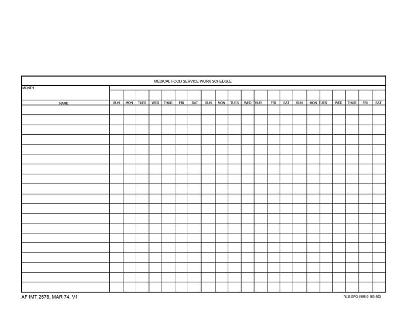 AF IMT Form 2578  Printable Pdf