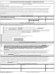 AF IMT Form 291 Unaccompanied Quarters Assignment - Termination Record
