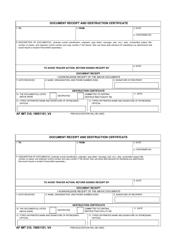 AF IMT Form 310 Document Receipt and Destruction Certificate