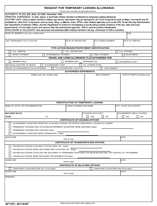 af-form-1357-request-temporary-lodging-allowance_big Online Order Form Template Html on repair work, printable fundraising, printable shirt, sample purchase, free sales, free fundraiser,