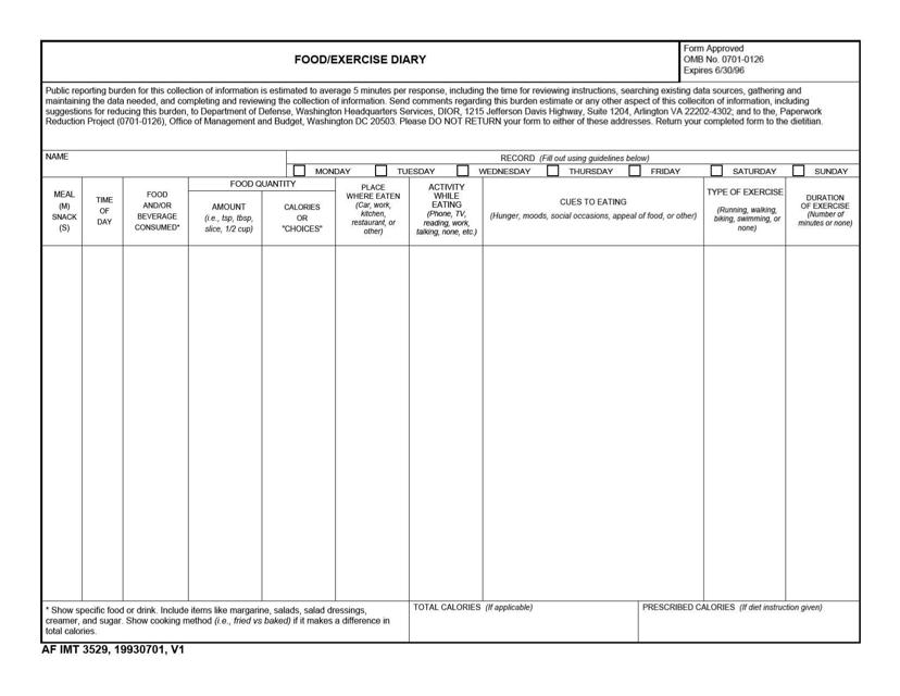 AF IMT Form 3529  Printable Pdf