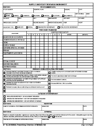 "AF Form 12 ""Supply Inventory Research Worksheet"""