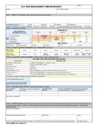 "ACC Form 167 ""Acc Risk Management (Rm) Worksheet"""